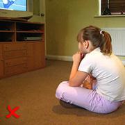 Watching TV - Before