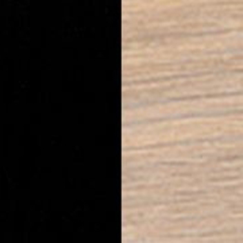 Black Nano Laminate with Oak White Oil-Finish