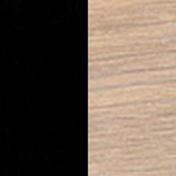 Black Nano Laminate with Oak White Oil-Finish