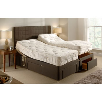 Backinaction Adjustable Bed - with Drawers