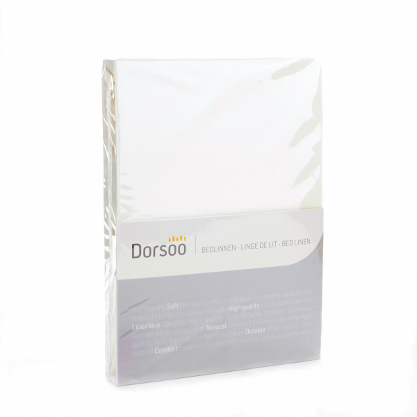 Dorsoo Jersey Fitted Sheet - White