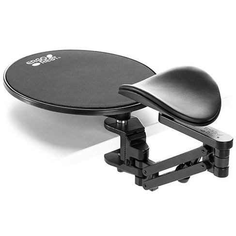Ergo Rest Wrist Rest with Wide Clamp and Mouse pad (34-64mm)