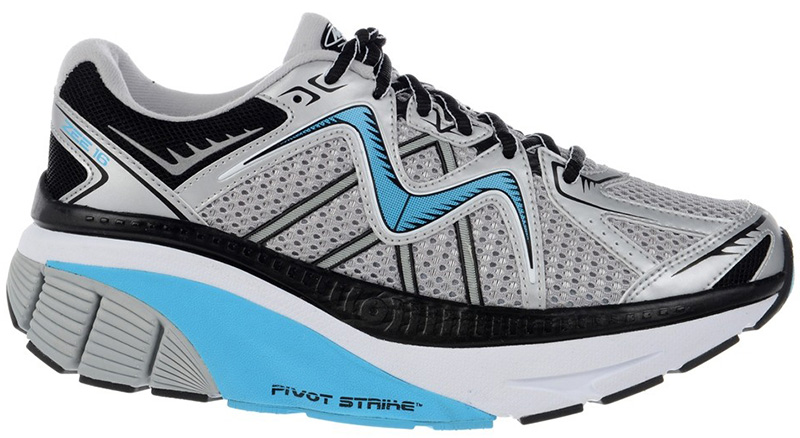 MBT Zee 16 Running Shoe - Silver/Sky Blue/Black