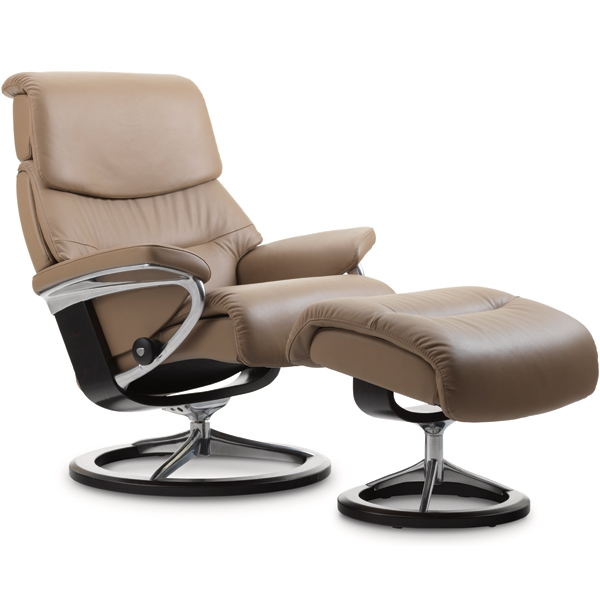 Stressless Capri Recliner with Footstool - Signature Base