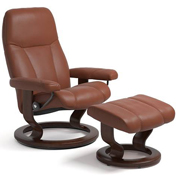 Stressless Consul with Footstool on Classic Base