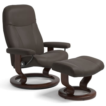 Stressless Dover and Consul Recliners on Classic Base