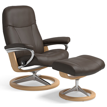 Stressless Dover and Consul Recliners on Signature Base