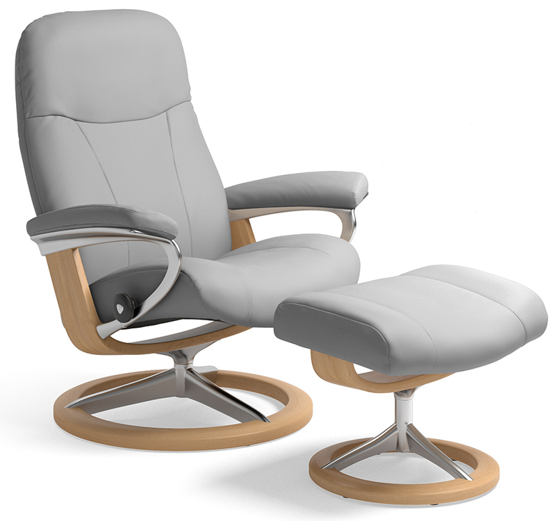 Stressless Garda, Dover and Consul Recliners on Signature Base