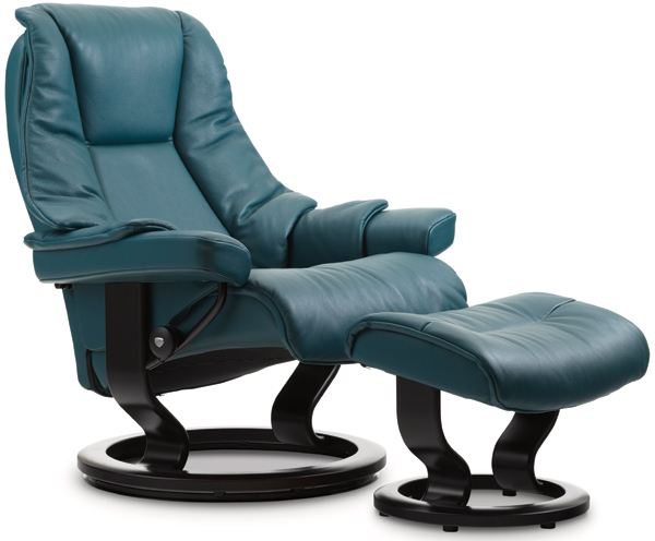 Stressless Live Recliner with Footstool
