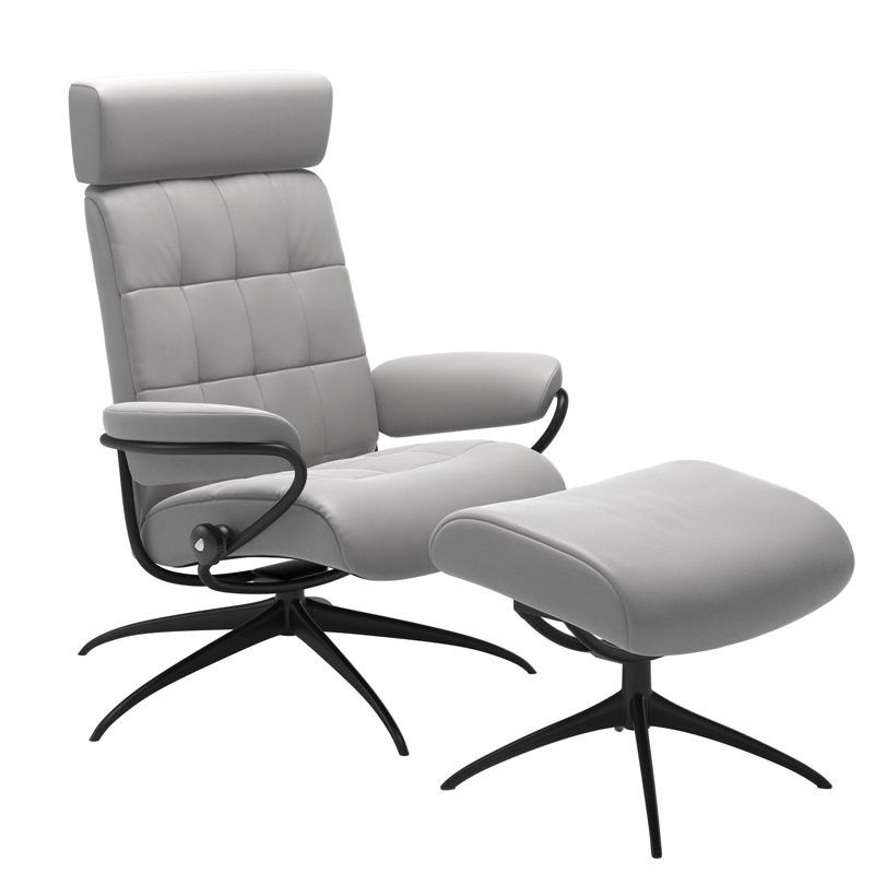 Stressless London Recliner with optional Footstool - Adjustable Headrest