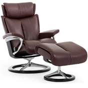 Stressless Magic Recliner with Footstool - Signature Base