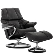 Stressless Reno Recliner with Footstool - Signature Base