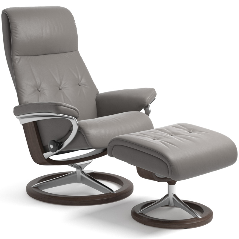 Stressless Sky Recliner with Footstool - Signature Base
