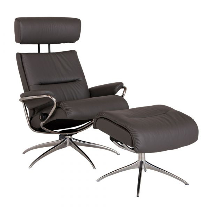 Stressless Tokyo Recliner with optional Footstool - Adjustable Headrest