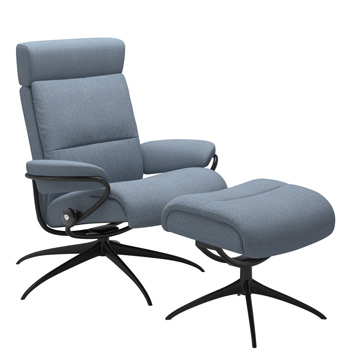 Stressless Tokyo with Adjustable Headrest and Footstool
