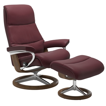 Stressless View Recliner with Footstool - Signature Base