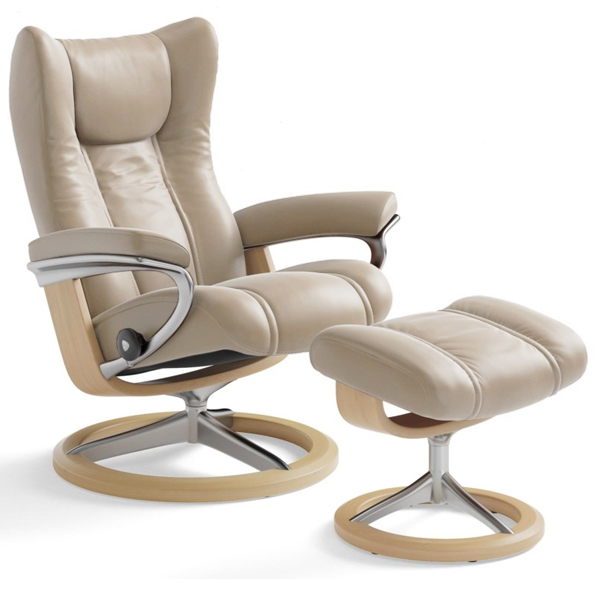 Stressless Wing Recliner on Signature Base