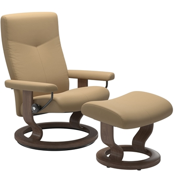 Stressless Dover Recliner with Footstool - Classic Base