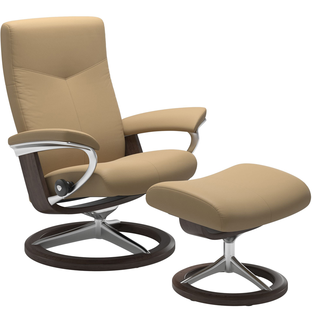 Stressless Dover Recliner with Footstool - Signature Base
