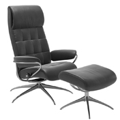 Stressless London Recliner with Footstool - High Back