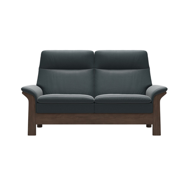 Stressless Saga With Wood 2 Seater - High Back