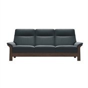 Stressless Saga With Wood 3 Seater - High Back