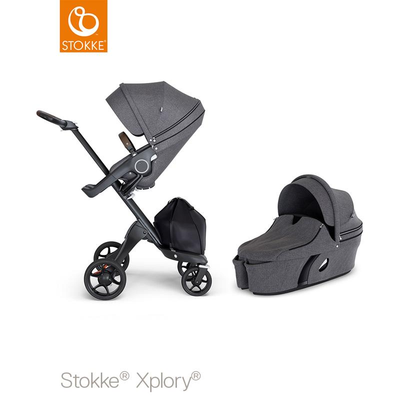 Stokke® Xplory v6 - Seat + Carrycot - FREE iZi Go Modular Promotion