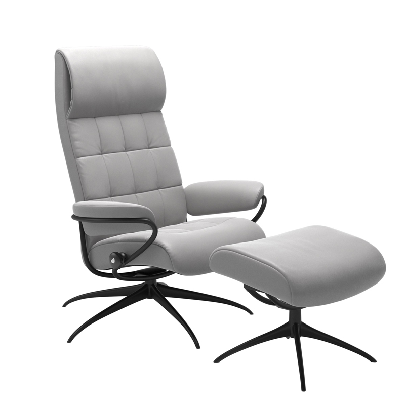 Stressless London Recliner with optional Footstool - Standard Headrest