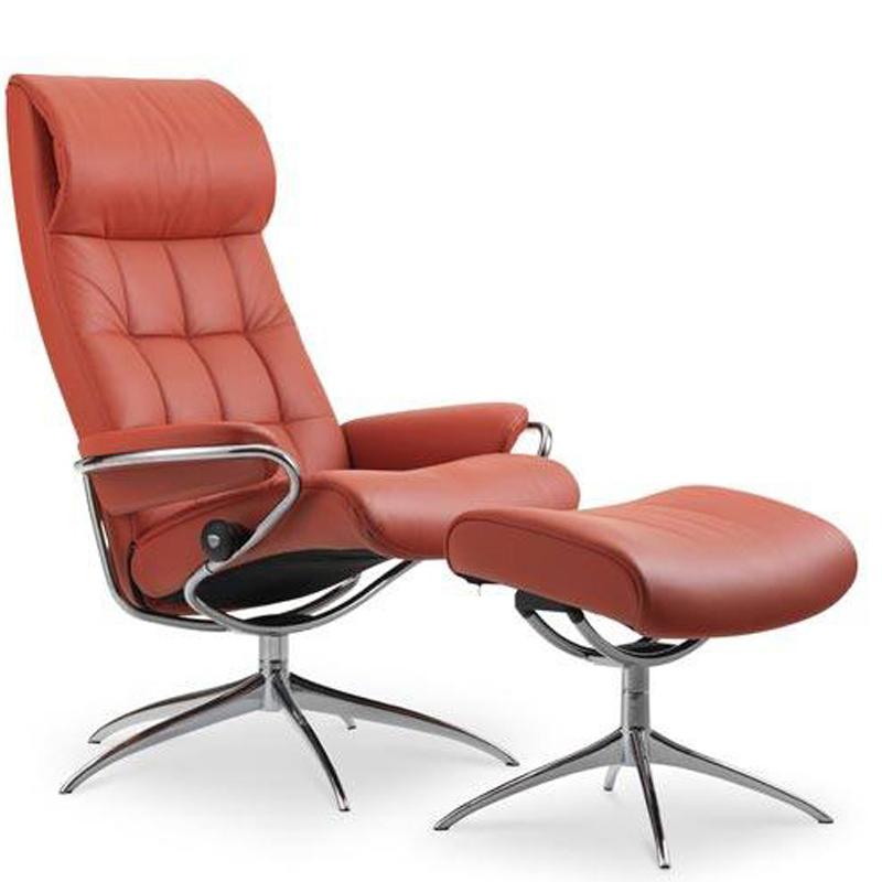 Stressless London Recliner with optional Footstool - Standard Headrest